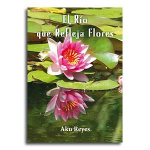 El rio que refleja flores portada