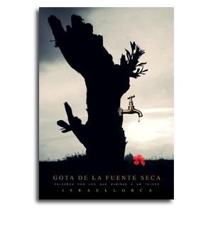 Gota de la fuente seca - Portada del libro de Israel Lorca
