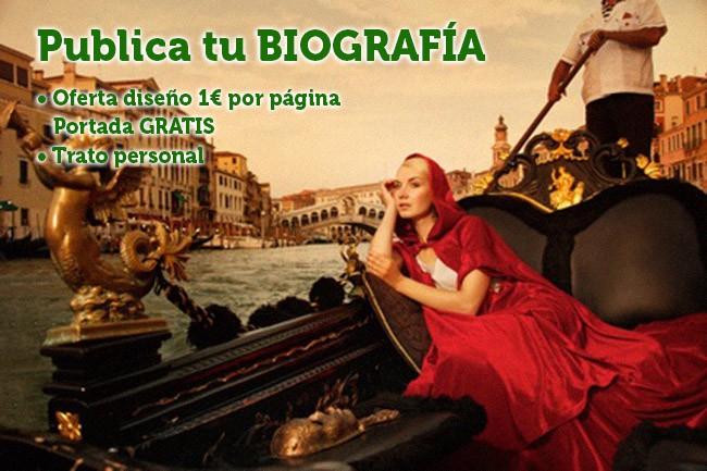 Imagen oferta publicar biografia