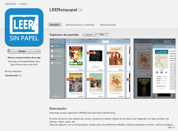 aplicacion iPad leersinpapel