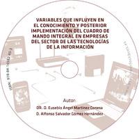 portada del cd variables conocimiento