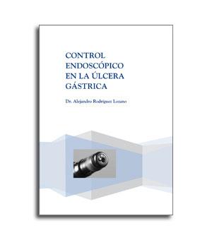 portada del libro control endoscopico en la ulcera gastrica