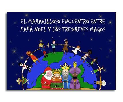 El maravilloso encuentro entre Papa Noel y los tres ReyesMagos