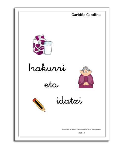 portada del libro en euskera Irakurri eta idatzi