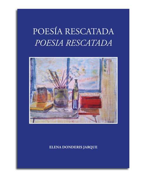 portada del poemario Poesía rescatada de Elena Donderis